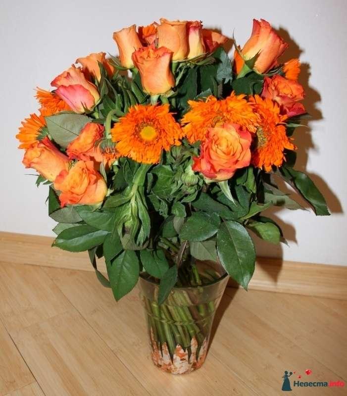Спиральный букет из роз и календулы - фото 84150 Вашкетова Юлия - организатор свадеб, флорист.