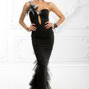 Вечернее платье «Сеона»  «Обволакивающий черный, загадочные орхидеи и манящий блеск хрусталя.  Платье «Сеона» - мой фаворит»