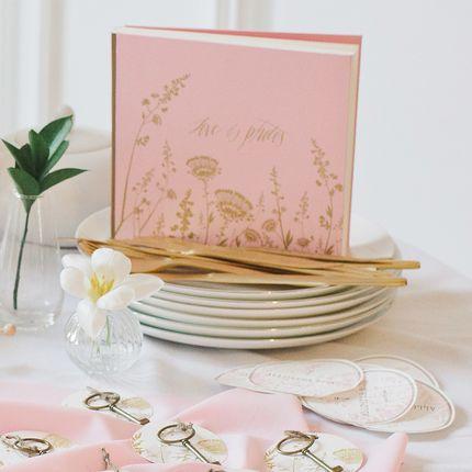 Книга для пожеланий и шкатулка для колец Gold Rose.
