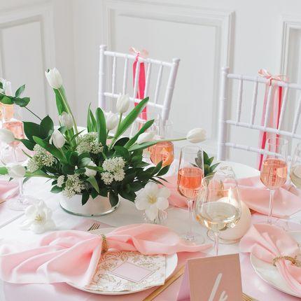 """Оформление столов - пакет на 8 гостей """"Gold rose"""""""