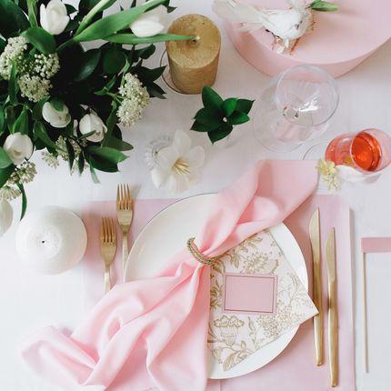 Набор стола молодожёнов  Gold Rose