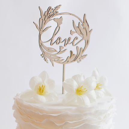 Топпер для торта  Gold Rose