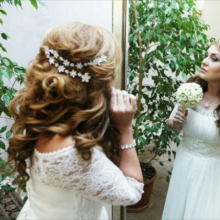 Свадебная причёска и макияж с репетицией