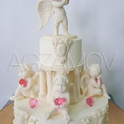 "Свадебный торт ""Ангелочки"", цена за 1 кг"