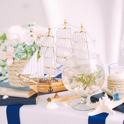 """Оформление зала - пакет """"Морская свадьба"""""""