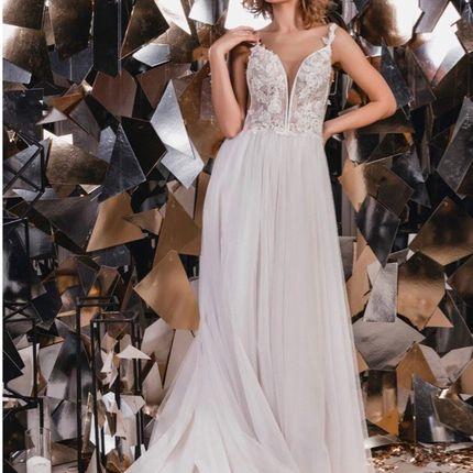 Свадебное платье с тонкими лямками