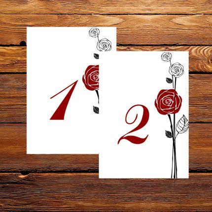 """Номера столов """"Розы"""""""