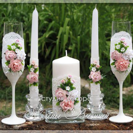 Набор аксессуаров с нежными розами