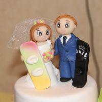 """Фрагмент торта """"Свадьба сноубордистов"""""""