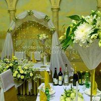 Свадебная арка и украшение столов