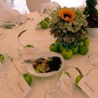 Свадьба, украшение столов