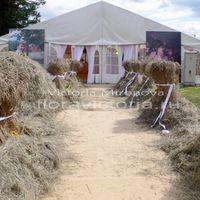 Свадьба.Оформление подиума и шатра