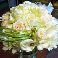 Букет невесты из калы и розы