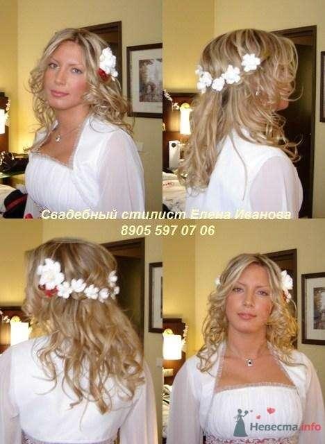 свадебные прически фото, свадебный макияж - фото 70167 Парикмахер и стилист-визажист - Елена Иванова