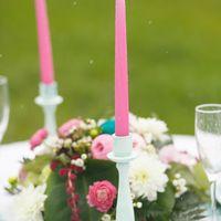 Оформление свадебной фотосесии. Мятно-розовая пуговичная свадьба
