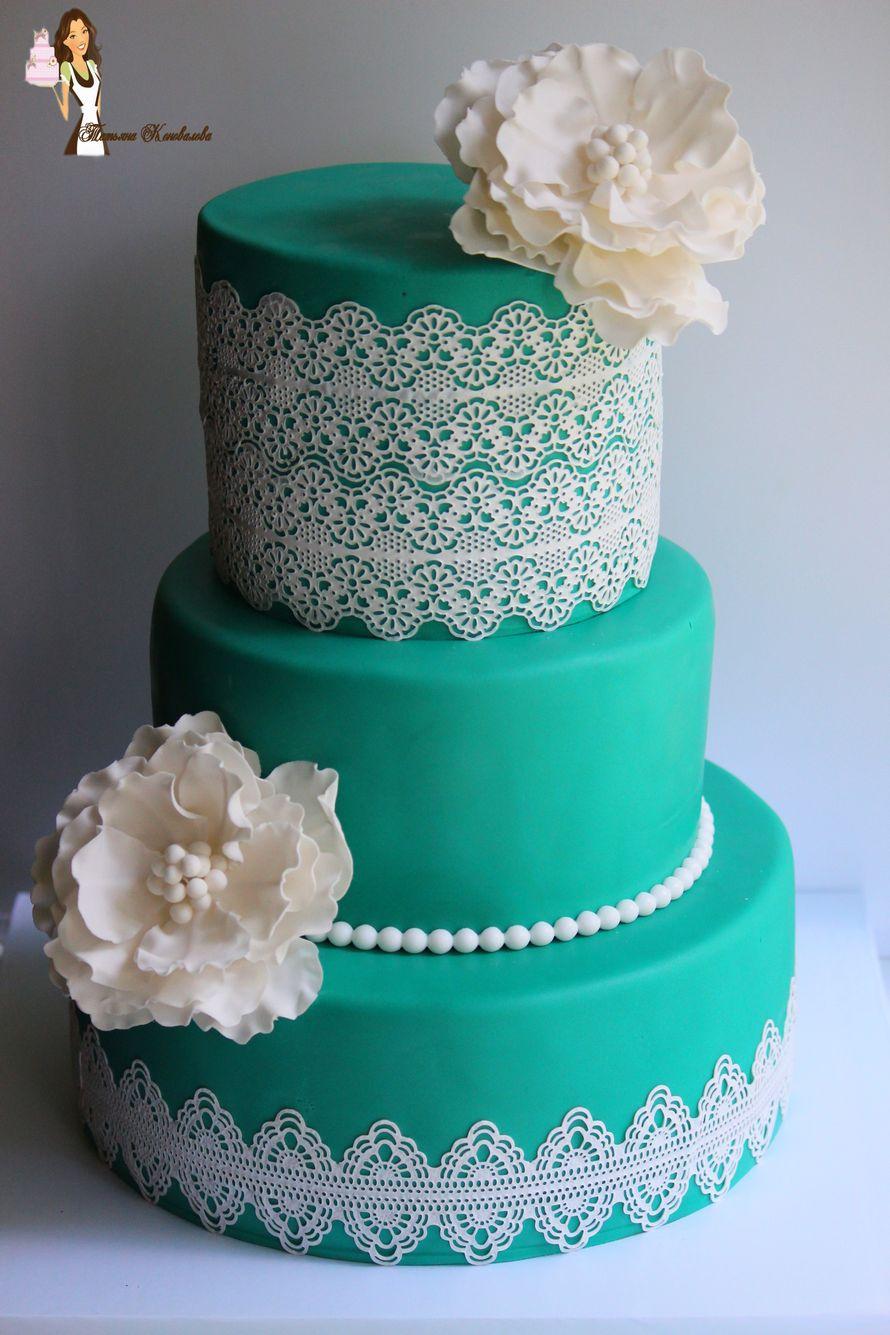 """Фото 6384825 в коллекции Мои свадебные торты - Студия торта """"Сахарная пудра"""""""