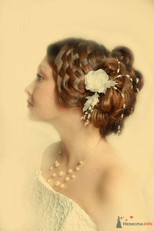 свадебная причёска с элементами плетения - фото 46419 Свадебный стилист Татьяна Мартынова