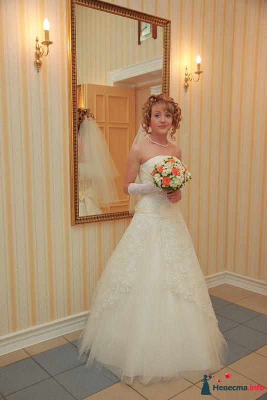 свадебная причёска из волос средней длинны - фото 123356 Свадебный стилист Татьяна Мартынова
