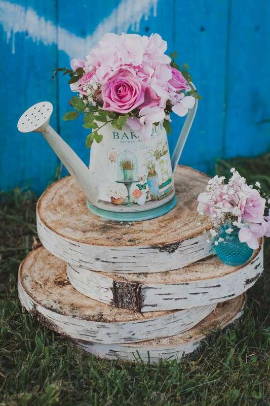 Нежнейшие розы в винтажной лейке - фото 3192903 А-и-М