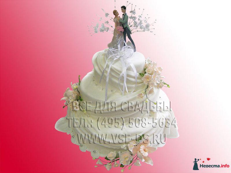 Фото 81869 в коллекции Свадебные торты