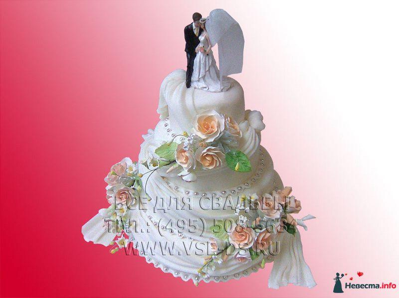 """Фото 99317 в коллекции Свадебные торты - """"Все для свадьбы"""" - салон аксессуаров и услуг"""