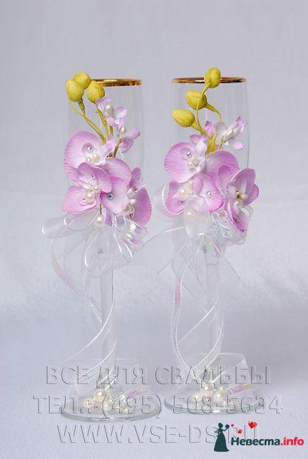 """Свадебные бокалы """"Орхидеи"""". Арт.114-034"""