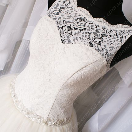 """Свадебное платье с фатиновой юбкой """"Виола-айвори"""""""