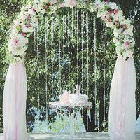 Арка для церемонии в розовых тонах