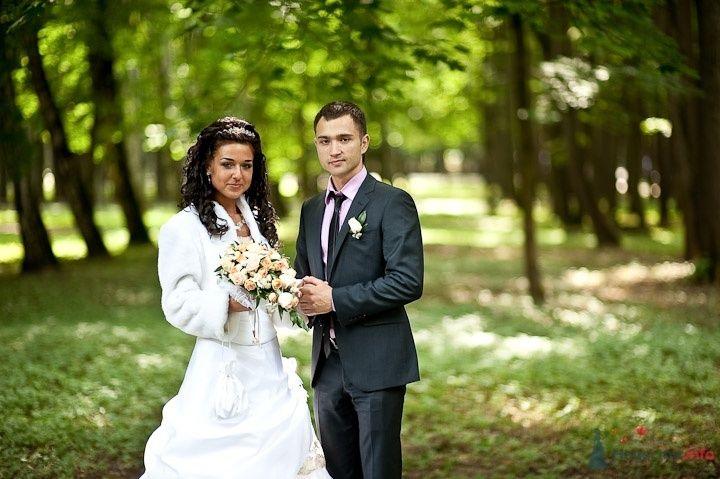 Жених и невеста стоят рядом в зеленом лесу - фото 45841 Фотограф Максим Корогодский