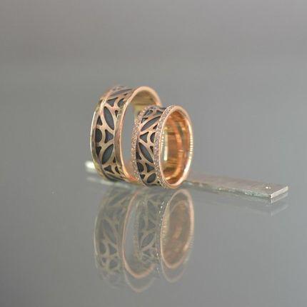 Эксклюзивные обручальные кольца с 70 бриллиантами
