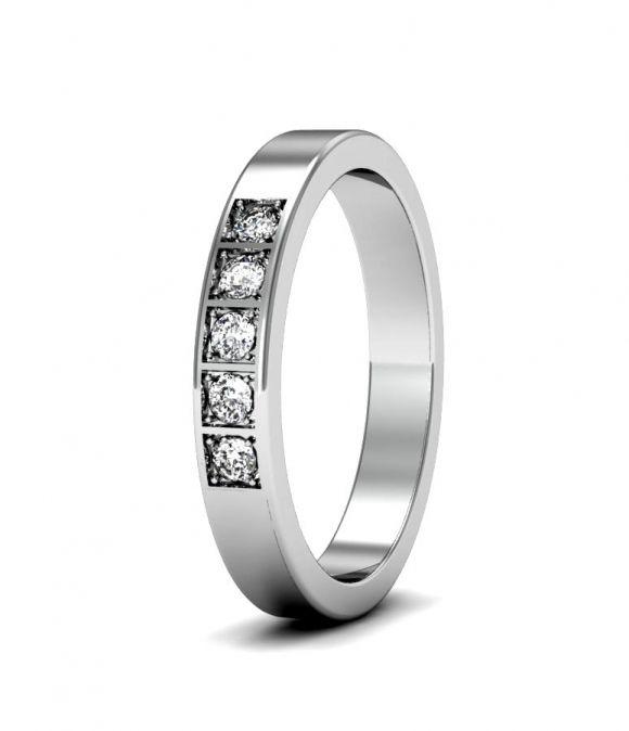Обручальное кольцо с 5-ю бриллиантами