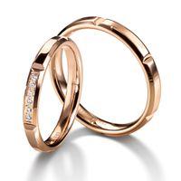 Обручальные кольца с 6-ю бриллиантами. На заказ