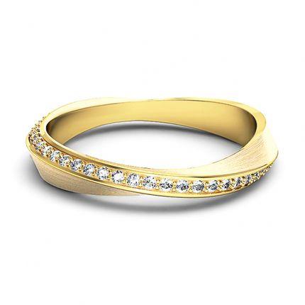 Изумительное обручальное кольцо с бриллиантами. На заказ