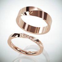 """Обручальные кольца """"Лента Мёбиуса"""" с бриллиантами. Под заказ"""