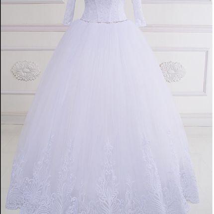 Пышное свадебное платье с рукавами, 40-68 размеры