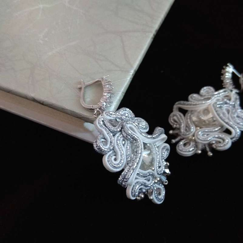 Серьги для зимней невесты. - фото 16002908 Дизайнер украшений Марина Чупанова