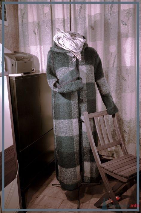 уютное пальто из пушистой ткани с ворсом. полностью ручное шитьё (обвязка мохеровой пряжей). - фото 46891 Белошвейка