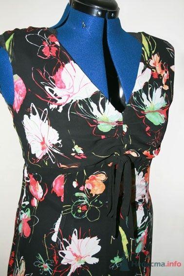 Детали летнего платья из пестрого шифона - фото 50192 Белошвейка