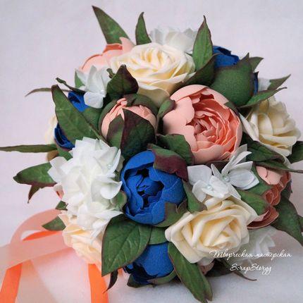 """Букет невесты """"Персиковый"""""""