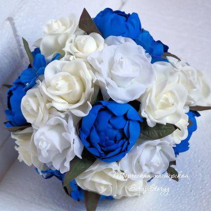 """Букет невесты """"Синие пионы"""""""