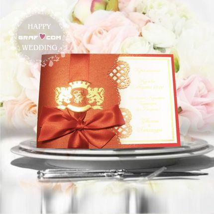 Свадебное приглашение (артикул 004) новинки