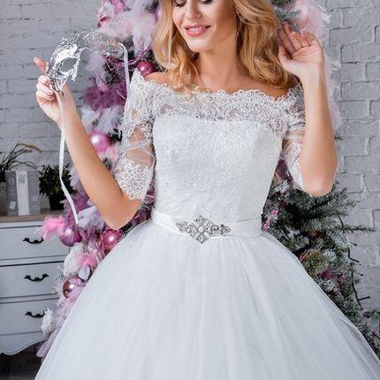 Свадебное платье Элен, шлей