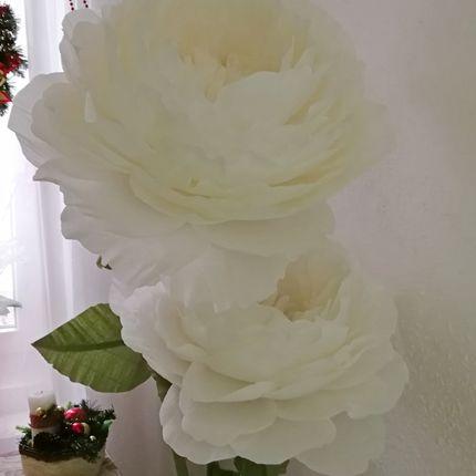 Оформление гигантскими цветами