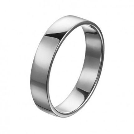 Обручальное кольцо из палладия шириной 4,5 мм