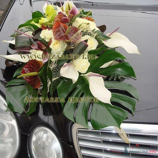 Оформление автомомбиля цветами - фото 46006 Невеста01