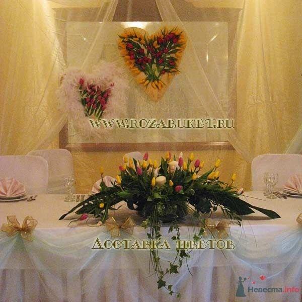 Сердца из тюльпанов  и композиция на стол - фото 46012 Невеста01