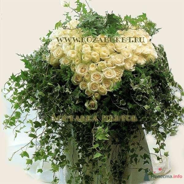 Огромное сердце из роз - фото 46013 Невеста01
