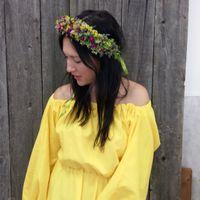 Венок в волосы из живых цветов