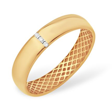 Кольцо из красного золота 585 с бриллиантами, арт. 5