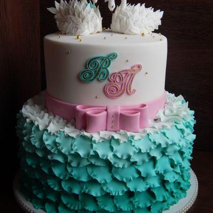 Свадебный мастичный торт